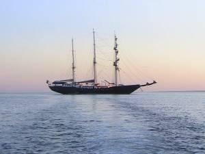 Galapagos sailing ship