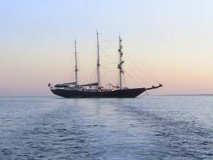Galapagos sailing ship